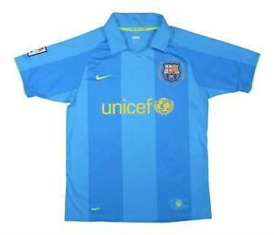 Barcelona 2007-09 ORIGINALE AWAY SHIRT (eccellente) M SOCCER JERSEY
