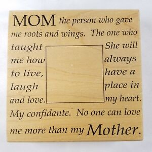 Mother-Rubber-Stamp-Mothers-Day-Frame-Mom-Wood-Mounted