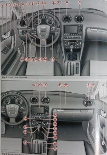 GENUINE AUDI A3 SPORTBACK 2008-2012 HANDBOOK OWNERS MANUAL WALLET AUDIO L-331
