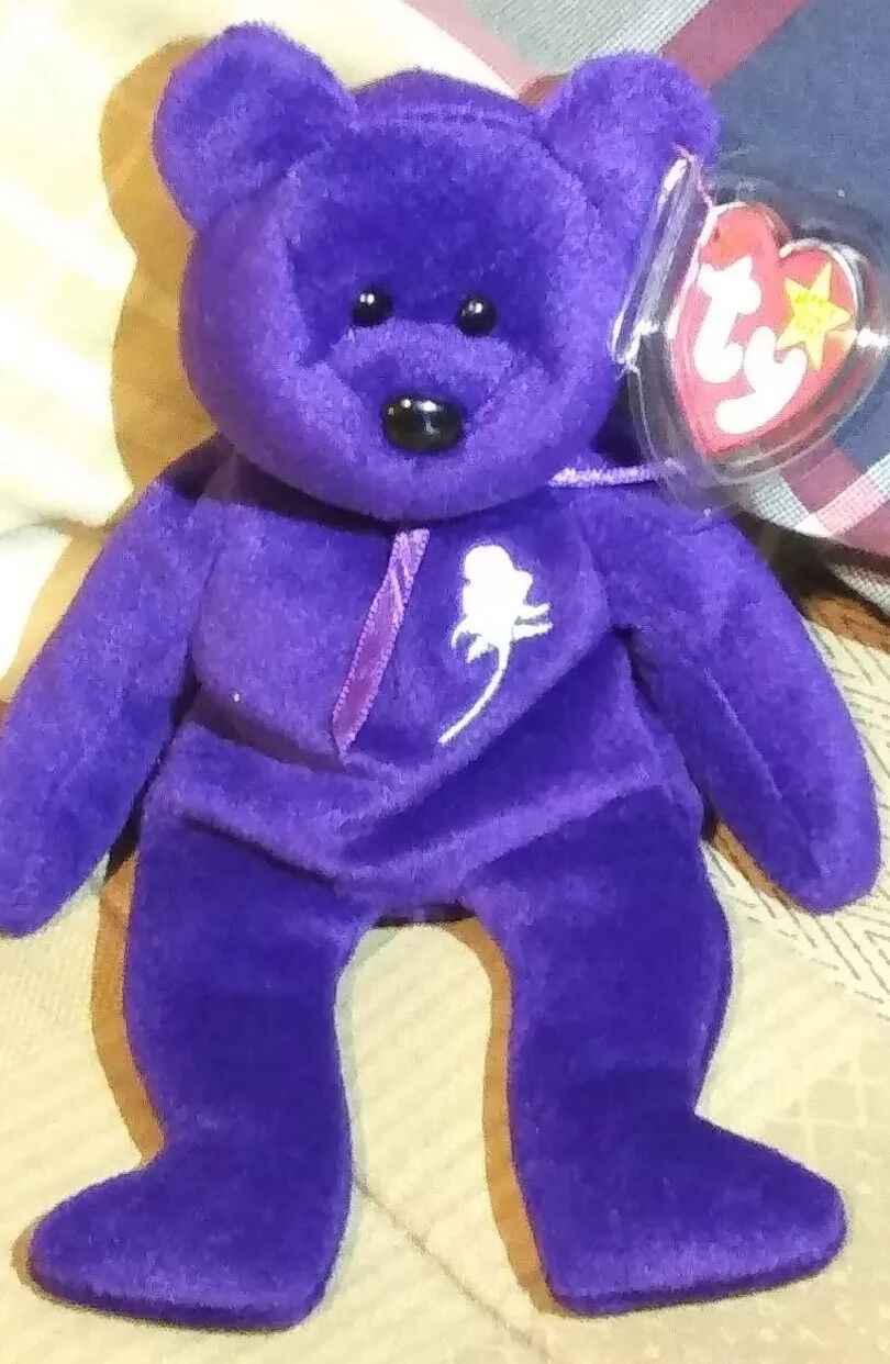 """""""1993"""" TY Beanie Babies Collection Princess With Predective Case On Tags"""