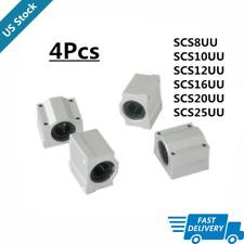 4pcs Scs8uu 1012162025uu 8 10mm Linear Motion Ball Bearing Slide For Cnc Us