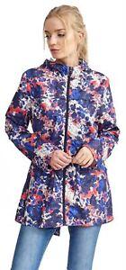 Ladies-Plus-Size-Abstract-Print-Polyester-Mac-Raincoat-Showerproof-Jackets-8-24