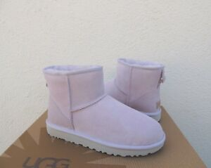 148592f4b7e Details about UGG CLASSIC MINI II LAVENDER FOG WATER-RESISTANT SUEDE BOOTS,  US 9/ EUR 40 ~NIB