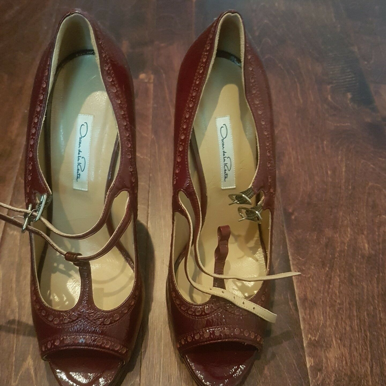 Brand Brand Brand New Oscar de la Renta Stiletto Heels, dark red, size 41 aa8524
