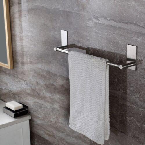 Taozun Self Adhesive 16-Inch Bathroom Towel Bar Brushed SUS 304 Stainless Steel