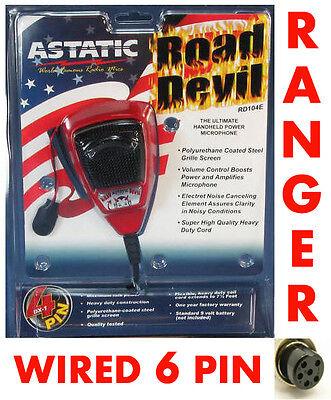 Astatic RD104E Road Devil Amplified 6 Pin CB Microphone RCI COBRA BLUETOOTH
