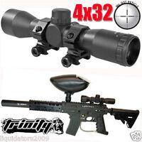 US Army Alpha Black Elite Paintball Gun Scope, 4X32 Scope For Paintball Guns.