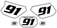 1991-2003 Yamaha Dtr 125 Pre-printed White Backgrounds Black Pinstripe