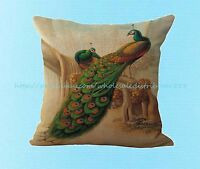 Vintage Peacock Cushion Cover Pillowcase Decorative Pillows Covers