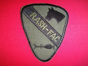 Eeuu-1st-Caballeria-Division-de-Rash-Fac-Guerra-Vietnam-Destenido-Parche