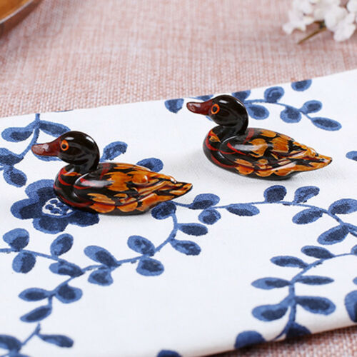 1 Pair Mandarin Duck Chopsticks Holder Dining Decorate Birthday Party Decor
