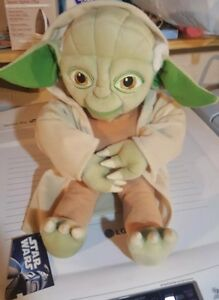 18 New Star Wars Large Green Tan Yoda Stuffed Animal