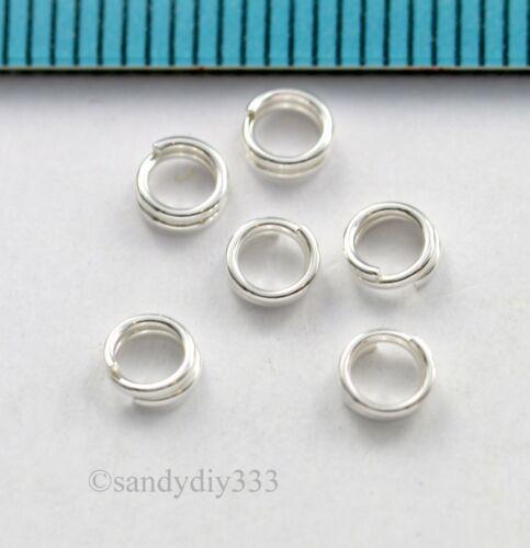 Plata esterlina 20x Redondo jumpring Split Jump Ring 3.8mm 0.6mm 22GA #529