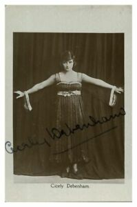 Antique-Cicely-Debenham-hand-signed-autograph-photographic-postcard-actress