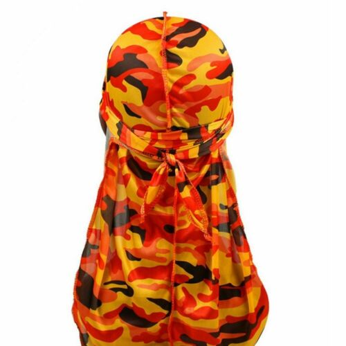 Men Camouflage Headwear Pirate Cap Hat Long Tail Bandana Turban Durag