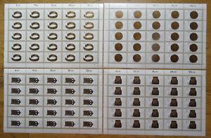 25-x-Bund-1333-1336-sauber-postfrisch-LUXUS-Bogen-Satz-BRD-Formnummer-4-2-1-3