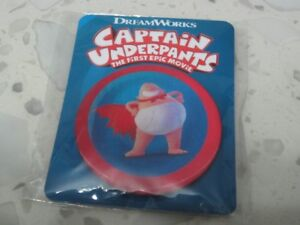 Captain-Underpants-2017-Badge-Button-Pin-Official-Genuine-Movie-Promo-NEW