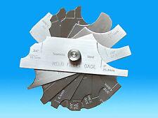 7pcs Weld Fillet Gauge Set Welding Inspection Metric Inch MG-11 102mm Silver