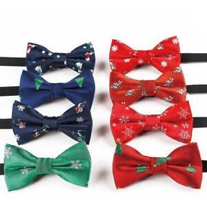 Kids-Boys-Christmas-Bowtie-Necktie-Bow-Tie-Adjustable-Lovely-Festival-Gift