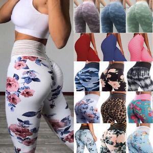 Women/'s Yoga Pants Floral High Waist Capris Gym Leggings Jumpsuit Fitness Sports