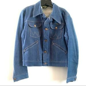 Vintage Deadstock Wrangler Sanforized Blue Jean Jacket 38 or US 8 new with tags