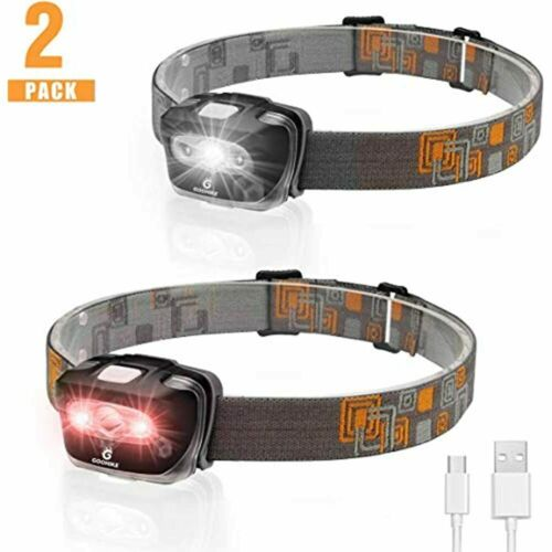 GOOHIKE Rechargeable Lightweight Headlamp Flashlight Super Bright and Durable