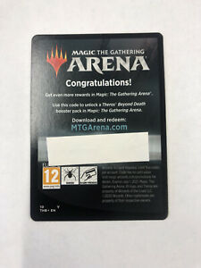 MTG Arena Theros Beyond Death Prerelease Code 6 Booster Packs Message Delivery