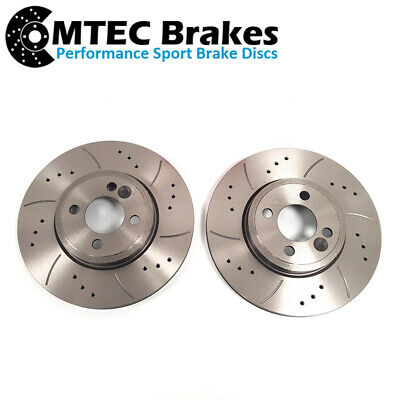 FRONT DRILLED GROOVED BRAKE DISCS 294mm Fits MINI COOPER S JCW R55 R56 R57 R58