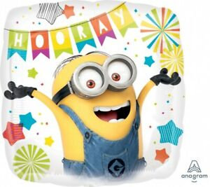 MINIONS-DESPICABLE-ME-HOORAY-18-034-FOIL-BALLOON-BIRTHDAY-PARTY-SUPPLIES