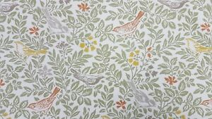 Clarke-and-Clarke-Bird-Song-Autumn-Curtain-Upholstery-Craft-Designer-Fabric