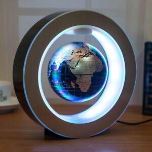 Round shape magnetic levitation floating globe led light world map image is loading round shape magnetic levitation floating globe led light gumiabroncs Images