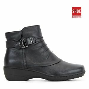 Natural Comfort KALA Black Womens Ankle Boot Casual Leather Boots