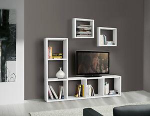 Mobile Parete Attrezzata Libreria Porta tv Pensile Salotto ...