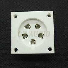2PCS ceramic P5A 5PIN Tube socket for Aa, Ba, Be, Cd,Ce,Da,P5Gi, Chassis mount