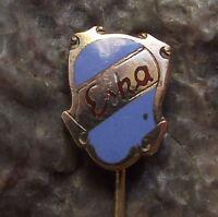 Antique ESKA Bicycle & Motorbike Works Shield Logo Crest Advertising Pin Badge