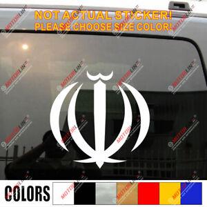 Iran Flag Emblem Coat of Arms Decal Sticker Islamic Car Vinyl no bkgrd