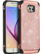 BENTOBEN 2 in 1 Slim Leather Shockproof Protective Case for Samsung Galaxy S6