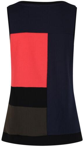Next Womens Colour Block Sleeveless Crepe Tunic Vest Top New Ladies Panel Detail