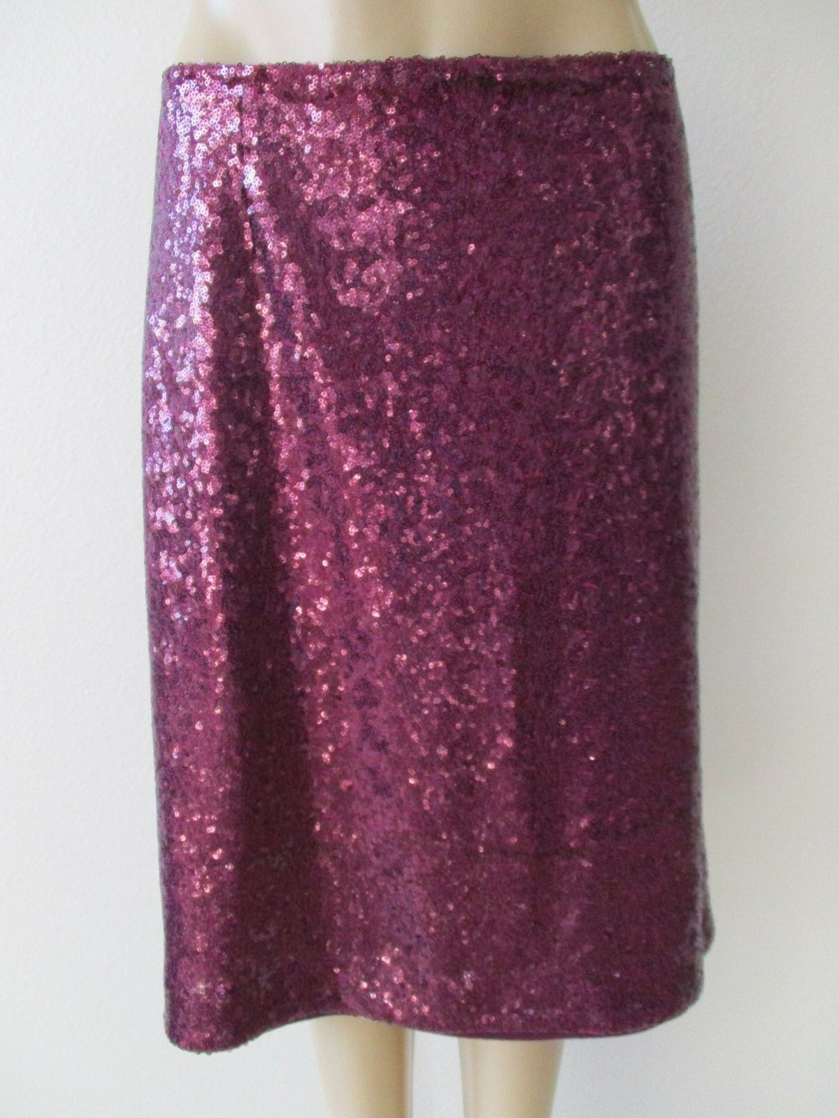 JESSICA LONDON DARK PURPLE SEQUIN EMBELLISHED SKIRT SIZE 22 - NEW