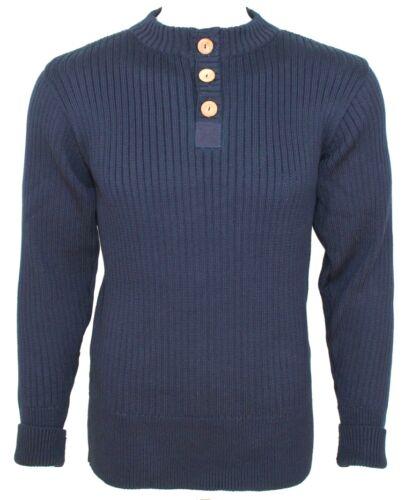100/% British Wool #41094 /'Henley/' 3 button placket front sweater,turtle neck