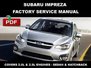 Greatest Subaru 2014 Subaru Impreza Service Manual