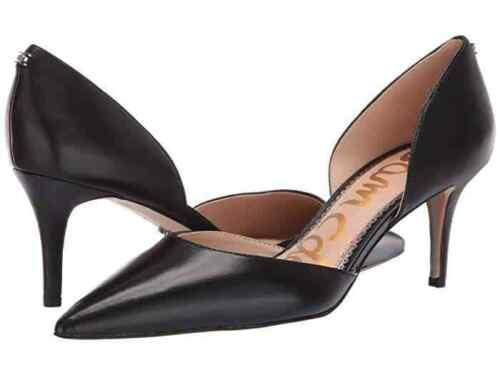 Sam Edelman Ladies Middle Heel Pump Black 65 Dorsay Pump Nappa