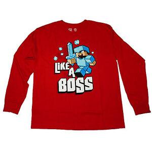 Minecraft Like A Bossss Boys T-Shirt Merchandise ufficiale