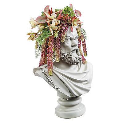 Philosopher Socrates Gallery Bust Weather Resistant Flower Planter Display