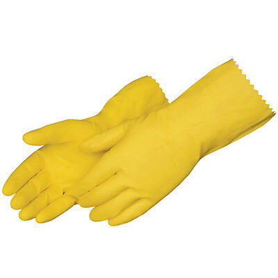12 PAIRS HOUSEHOLD WASHING UP GLOVES LATEX RUBBER KITCHEN CLEANING INDUSTRIAL