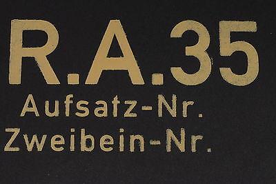 * STENCIL SET *FOR WW2 WWII GERMAN 8cm 80mm MORTAR GRANATWERFER SIGHT BOX R.A.35