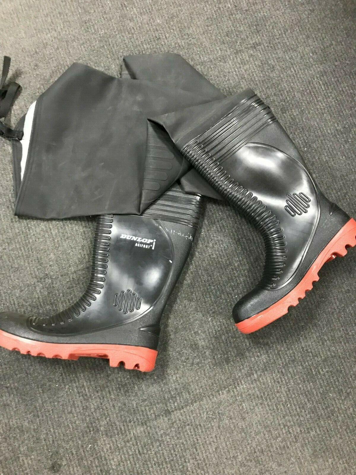 Dunlop 18811 nero a costine coscia da pesca lavorowear Trampolieri Taglia 11