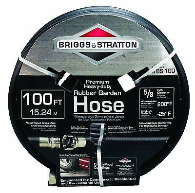 Briggs and Stratton 100-Feet Premium Heavy-Duty Rubber Garden Hose #8BS100