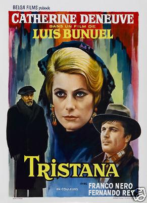 Tristana Catherine Deneuve vintage movie poster print