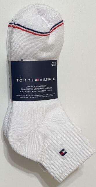 Tommy Hilfiger Men's 6-Pair Athletic Quarter Crew Socks  White
